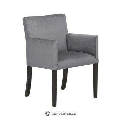 Кресло из серого бархата (бостон)