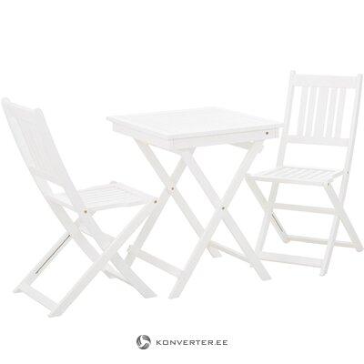 White garden furniture set skyle (azzure creek)