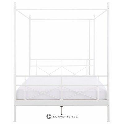 Кровать с балдахином из белого металла (тора) (180х200см)