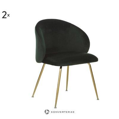 Черно-золотой бархатный стул (луиза)