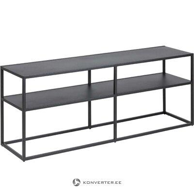 Black metal shelf (neptune)