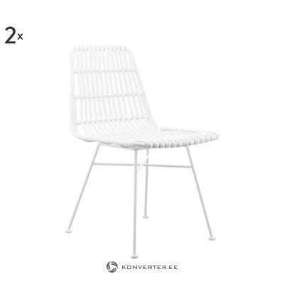 White rattan garden chair (costa)