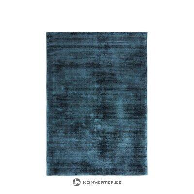 Dark blue viscose carpet (jane)