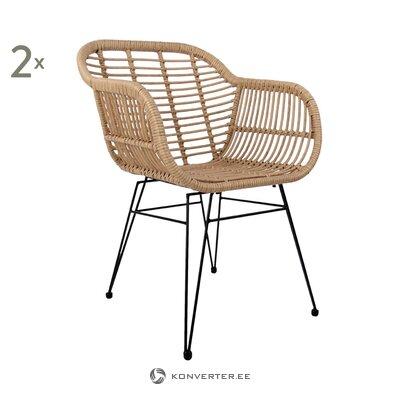 Brown-black design garden chair (costa)