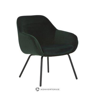 Black velvet armchair (jana)