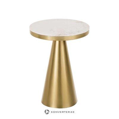 Zelta marmora kafijas galdiņš (Zelda)