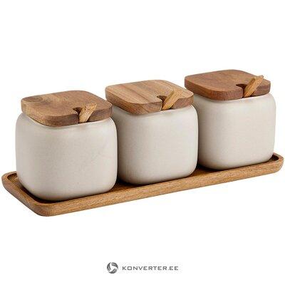 Storage jar set 7-piece essentials (ladelle)