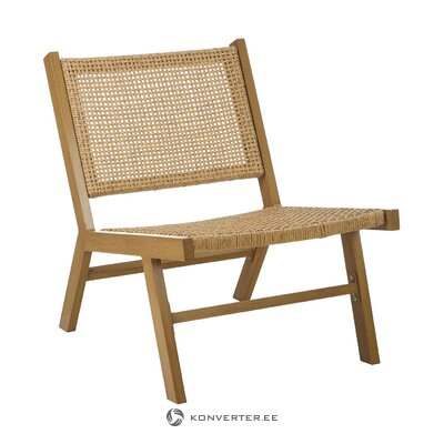 Garden lounger (palina) with plastic wicker