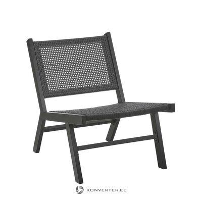 Black garden chair (palina)