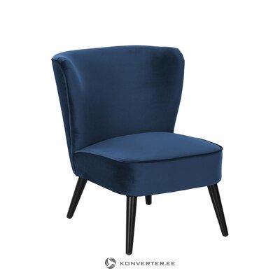 Blue velvet armchair (robine)