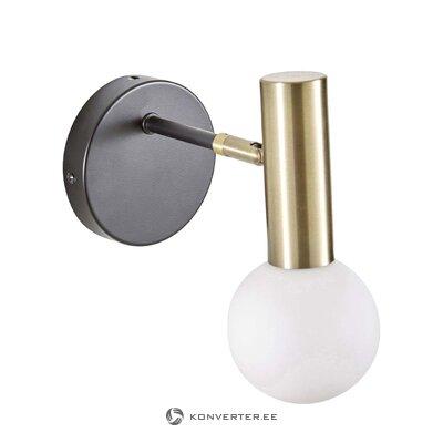 Melni zelta sienas lampa (Wilson)