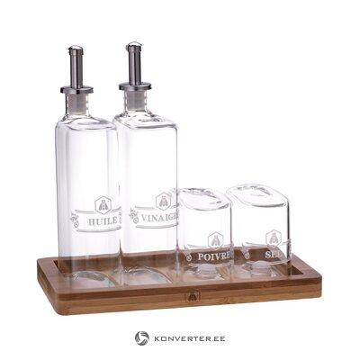 Eļļas un etiķa pudeļu komplekts 5 gabalu olīvu (tradetogo)
