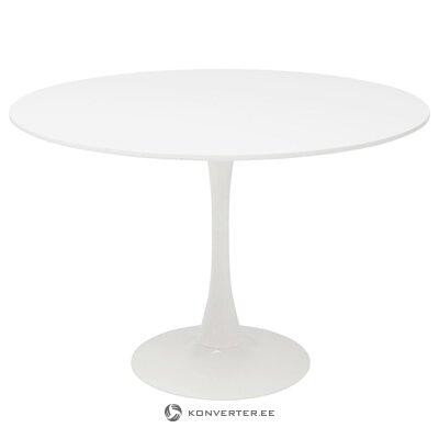Valkoinen ruokapöytä (schikeria) karkea muotoilu