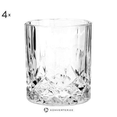 Whiskey glass set 4-piece (george)