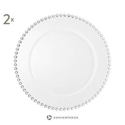 Meal plate 2 pcs pearls (yliades)