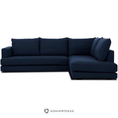 Dark blue corner sofa (tribeca)