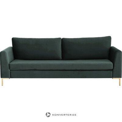 Dark gray velvet sofa (luna)