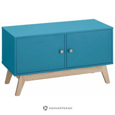 Amy Bench 2 doors - Turqouise/Oak