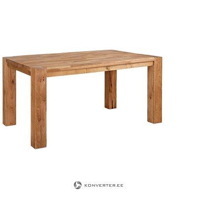 Ruskea ruokapöytä tammipuulla