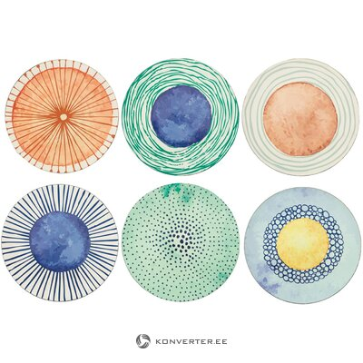 Набор тарелок marea из 6 предметов (villa d´este)