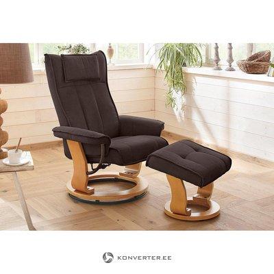 Темно-коричневое вращающееся кресло