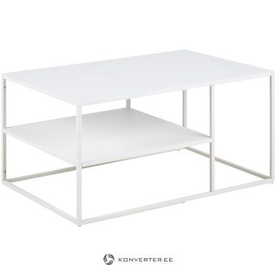 Metal white coffee table (actona) (with defects hall sample)