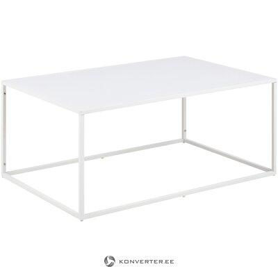 Журнальный столик из белого металла (ньютон)