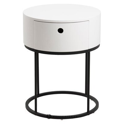 Black and white bedside table polo (actona) (whole, in a box)