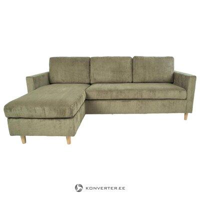 Светло-коричневый бархатный угловой диван тоскана (дом нордик)