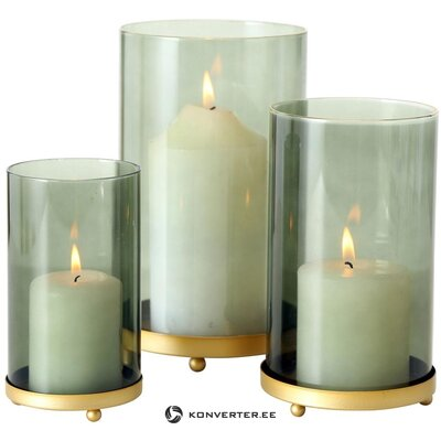 Sarja kynttilänjalkoja 3 kpl knikki (boltze)