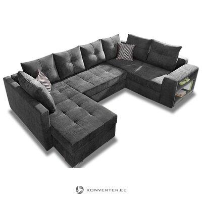 Juoda didelė sofa su jonų funkcija