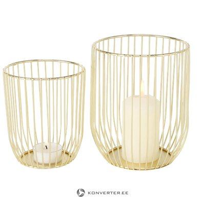 Golden candle holders 2-piece liza (boltze) (whole, hall sample)