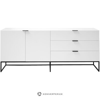 White-black chest of drawers kobe (interstil dänemark) (in box, whole)