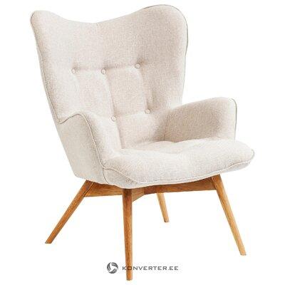 Gaiši pelēks krēsls vicky (aptuvens dizains) (kastē, viss)