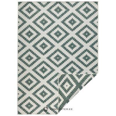 Vihreä-kermainen matto (bougari) (kokonainen, laatikossa)