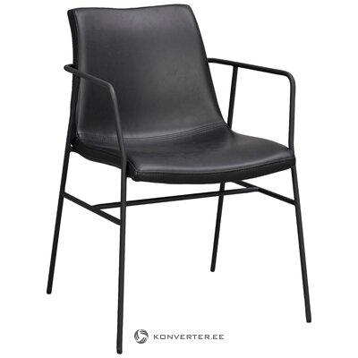 Кресло из экокожи чёрное хантингтон (rowico)
