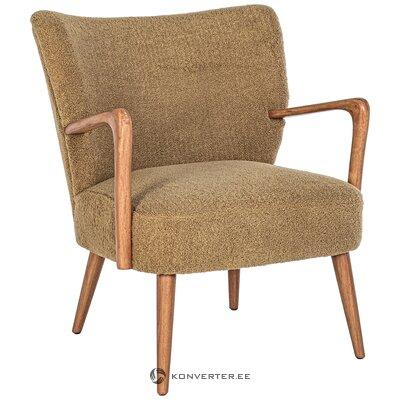 Design brown armchair moritz (bizzotto)