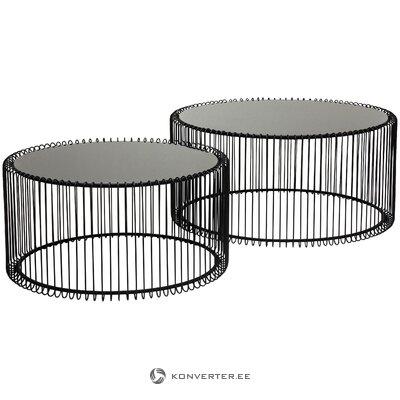 Metāla kafijas galdiņu komplekts (aptuvens dizains) (viss zāles paraugs)
