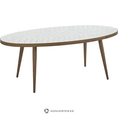 Oval mosaic black market table (steph)
