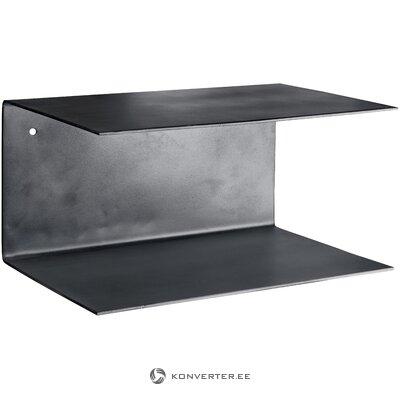 Black metal wall shelf 2 pcs phantom (tine k home)