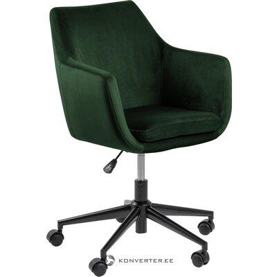 Žalia aksominė biuro kėdė Nora (Actona)
