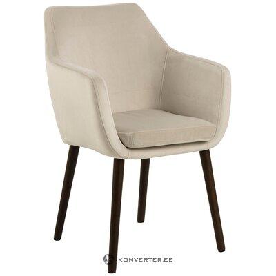 Gaiši samta krēsls Nora (Actona)