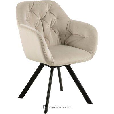 Beige-black velvet chair lucie (actona)
