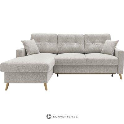 Gray corner sofa bed schlaf (bobochic paris)