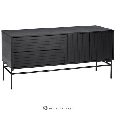 Black chest of drawers (johan) (hall sample, with beauty error)