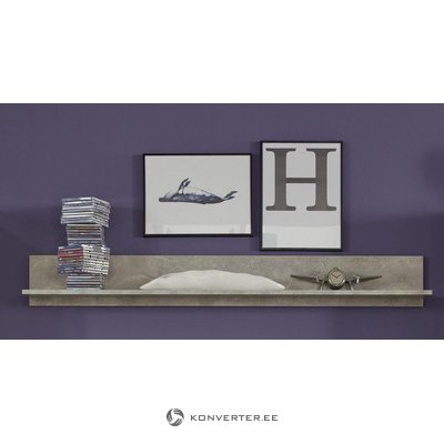 Gray wall shelf (width 148cm) (rock) (whole, in box)