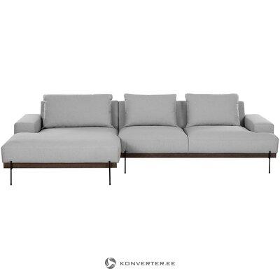 Pilkai ruda kampinė sofa (upeliai)
