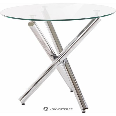 Round Toughened Glass Dining Table (Full, Boxed)