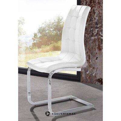 Balta kėdė su minkštu odiniu užvalkalu (lola)