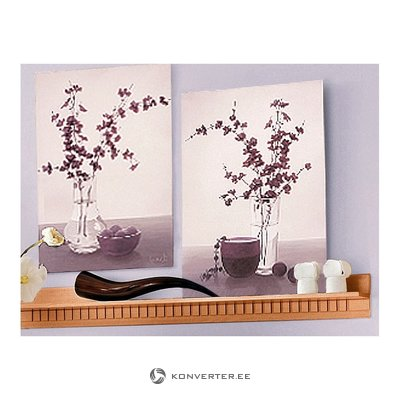 Light brown wall shelf (width 130cm) (whole, in box)